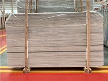 Nestos Beige Marble White Wooden Vein Slabs
