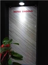Nestos Diagonal Marble Slabs, Tiles