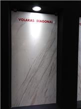 Volakas Diagonal Marble Slabs, Tiles