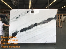 Panda White 2cm Polished Slabs&Tiles Bookmatch