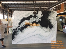 Panda White Black Marble Slabs & Tiles Bookmatch