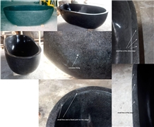 Indonesia Oval Resin Terrazzo Black Bathtub