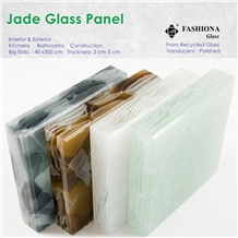 Translucent Jade Glass Panel