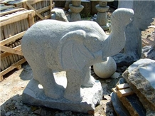 Stone Elephant Sculpture, Animal Stone Carving