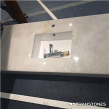 Cnc Faux Alabaster Basin Top for Shower Room Decor