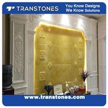 Hotel Decorating Translucent Faux Alabaster Stone