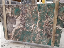 Amazon Green Quartzite Verde Paraíba Granito Slab