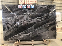 Bhainslana Black Marble Fantasy Stone Slab Wall