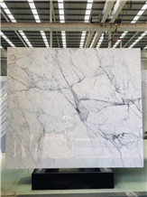 Bianco Statuario Venato Marble Slabs Floor Tiles