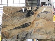 Brazil Jacaranda Oro Quartzite Giallo Gold Marble