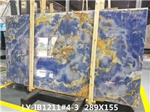 China Azur Blue Onyx Wall Stone Decorate Tiles