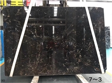China Black Dark Emperador Brown Marble Slabs Tile