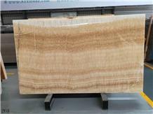 China Resin Yellow Onyx Slabs Interior Wall Tiles