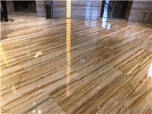 China Van Gogh Gold Marble Slab Wall Cladding Tile