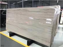 Piano Grey Wood Grain Vein Marble Slab in China