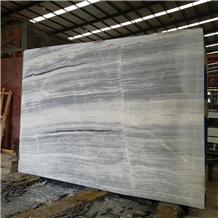 Putin Wood Marble Grey Wooded Grain Slab in China
