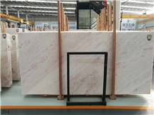 Rose Pink Rainbow Marble Slab Tile in China
