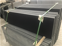 China Black Mongolia Black Basalt Slabs Flooring