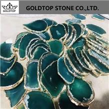 Beautiful Green Agate Coaster