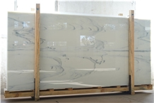 Crystal Mist Nano Glass Stone Panels Slab and Tile