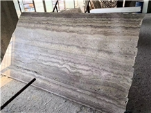 Italy Polished Silver Grey Travertine Slabs&Tiles