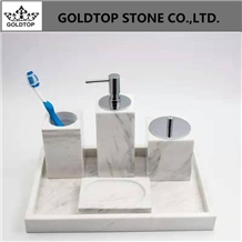 Marble Design Hotel Bathroom Accessories Set