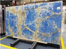 Polished Blue Sky Onyx Slab for Flooring&Walling