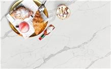 Prefab Calacatta Artificial Quartz Kitchen Countertops