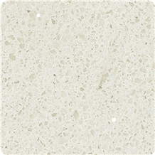 White Grain Sparkly Artificial Quartz Stone