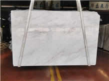 Chinese Carrara White Marble Slabs