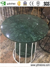 Dark Green/Polished Marble Round Table Top