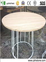 Yellow Sandstone/Polished Table Top for Cofe Shop