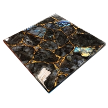Labradorite Granite with Gold Powder Inlay Design
