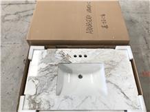 White Marble Custom Vanity Tops Countertops Bath