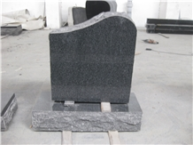 Granite Black Stone China Style Tombstones Design