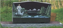 Granite Memorial Monuments Garden Decoration