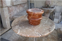 Grigio San Marco Marble Round Table Top