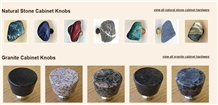 Natural Stone and Granite Knobs / Pulls