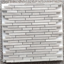 Different Shape Of White Wood Mosaic