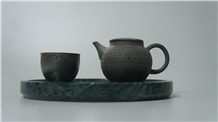 Imperial Green Marble for Tea Tray