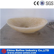 Chinese Yellow Honey Onyx Vessel Sinks,Basin,Bowl