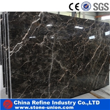 Coffee Dark Brown Polished Marble Tiles and Slabs