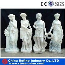 European Western Style White Marble Sculpture