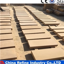 Factory Sales Beige Honed Sandstone Floor Tiles