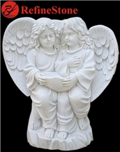 Hand Carved Sculpture White Marble Child Statue