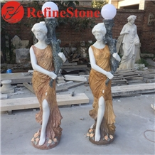 Life Size Marble Human Statue Sculpture for Garden