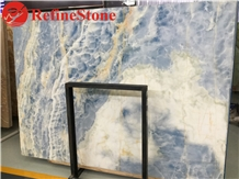 Light Blue Onyx Marble Slab for Home Decoration