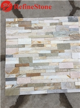 Mixed Golden Quartzite Culture Wall Cladding