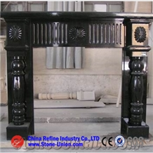 Modern Black Marble Fireplace Mantel,Surround