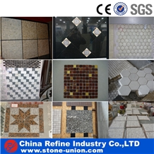Multi Color Stone Mosaic Tiles and Wall Panel